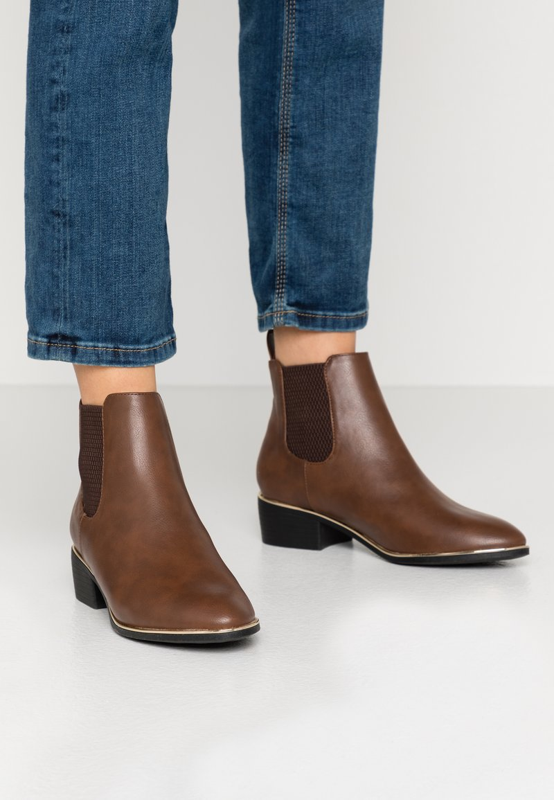 Dorothy Perkins Wide Fit - WIDE FIT MONDRIAN TIPPED CHELSEA - Ankelboots - tan