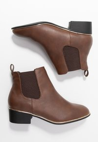 Dorothy Perkins Wide Fit - WIDE FIT MONDRIAN TIPPED CHELSEA - Ankelboots - tan - 3