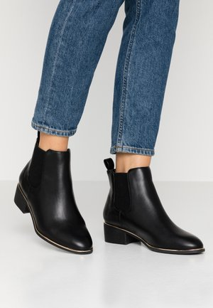 WIDE FIT MONDRIAN TIPPED CHELSEA - Boots à talons - black