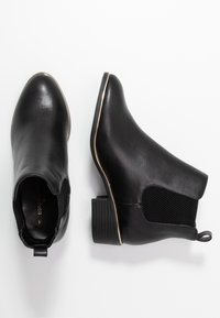 Dorothy Perkins Wide Fit - WIDE FIT MONDRIAN TIPPED CHELSEA - Ankelboots - black - 3