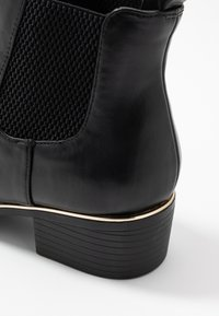 Dorothy Perkins Wide Fit - WIDE FIT MONDRIAN TIPPED CHELSEA - Ankelboots - black - 2