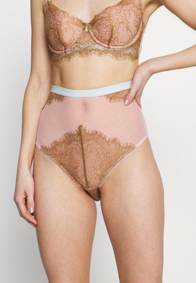 CELI HIGH WAIST KNICKER - Shorty - light pink/lhaki