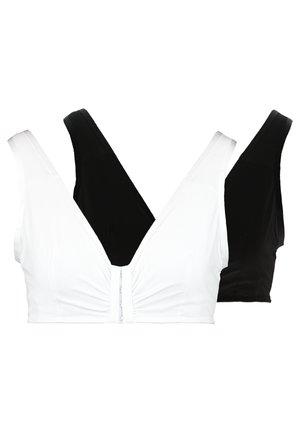 POST SURGERY BRA BENNET BRA 2 PACK - Triangle bra - white/black