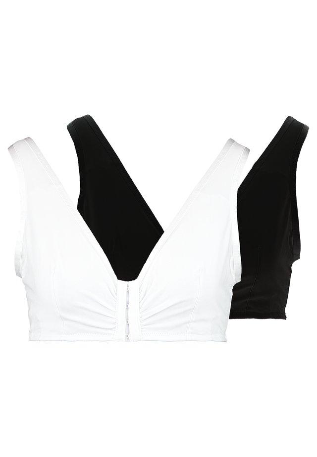 POST SURGERY BRA BENNET BRA 2 PACK - Triangel BH - white/black