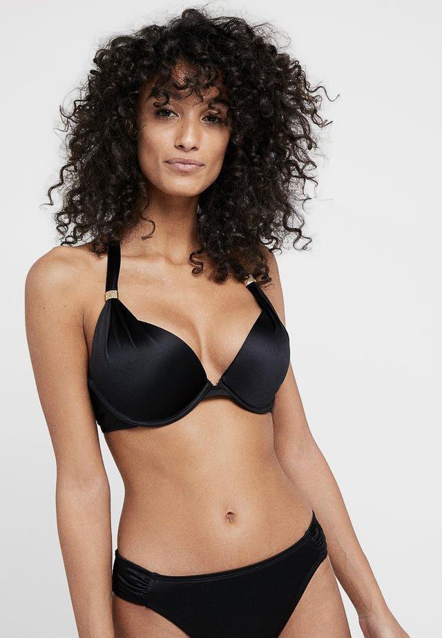 JAMAICA PUSH-UP - Góra od bikini - black