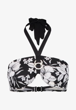 FIJI SOFT BANDEAU - Bikini pezzo sopra - black