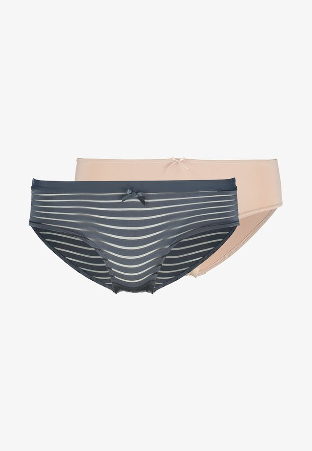LOUISE HIPSTER 2 PACK - Panties - blue charcoal/blush