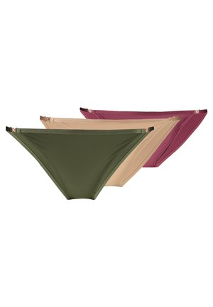 FILI THONGS 3 PACK - Underbukse - pink/green/beige