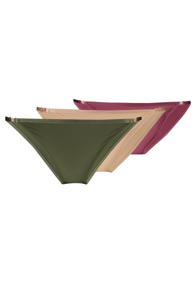 DORINA - FILI THONGS 3 PACK - Briefs - pink/green/beige