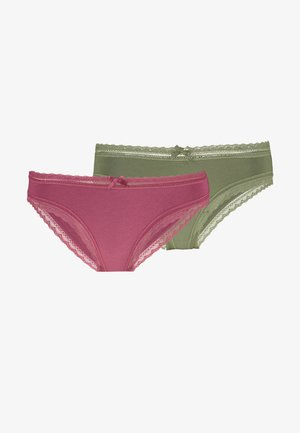 LILA BRIEFS 2 PACK - Briefs - green/pink