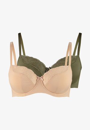 FAITH UNDERWIRE 2 PACK - Beugel BH - green/beige