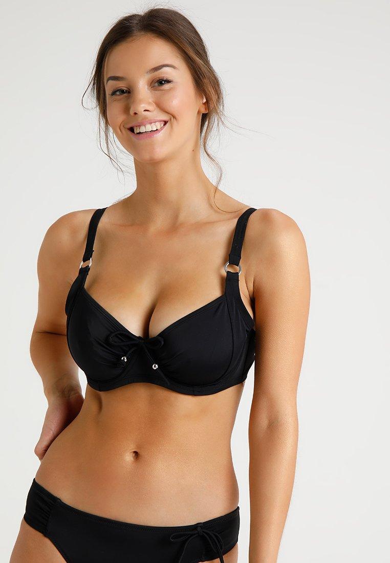 DORINA CURVES - FIJI NON PADDED - Haut de bikini - black