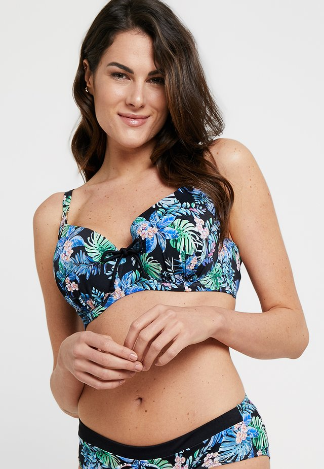 KUTA PADDED - Bikini top - blue