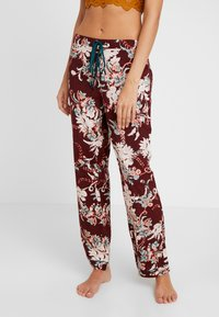 DORINA CURVES - MURIELPYJAMA PANTS - Pyjama bottoms - red - 0