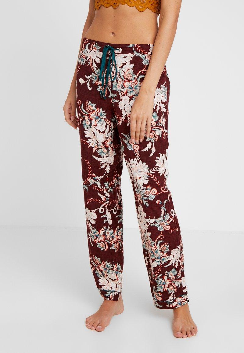 DORINA CURVES - MURIELPYJAMA PANTS - Pyjama bottoms - red