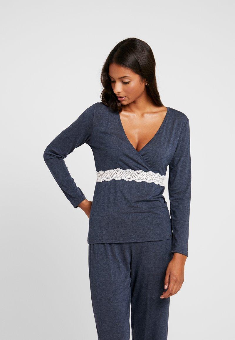 DORINA CURVES - HENRIETTALONGSLEEVE - Haut de pyjama - grey melange