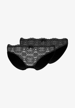 ABIGAIL BRIEF 2 PACK - Alushousut - black/black