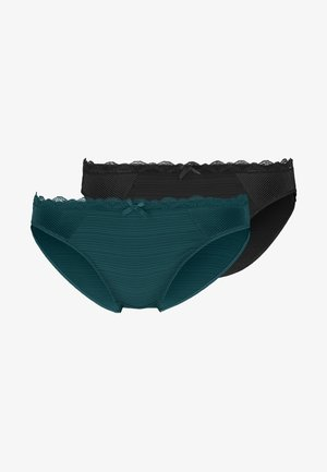 PAULA BRIEFS 2 PACKS - Slip - black/dark green