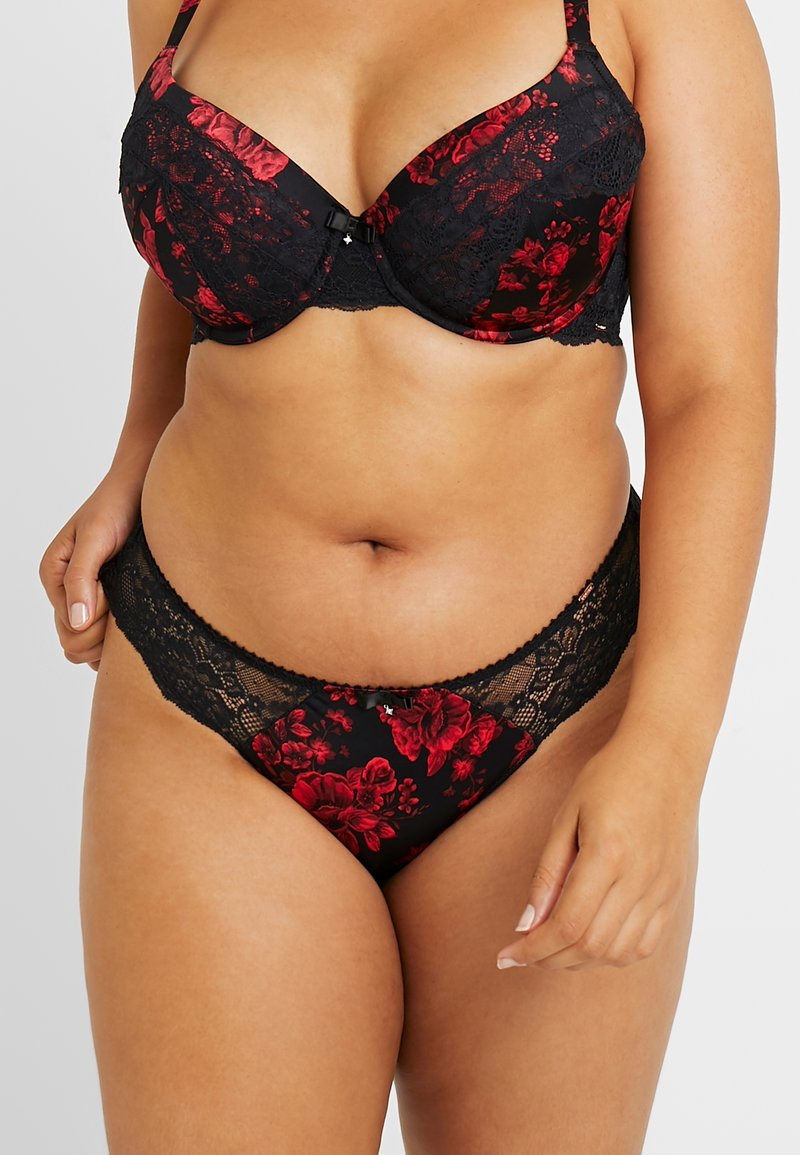 DORINA CURVES - ANDERSON FLORAL BRIEFS - Alushousut - red