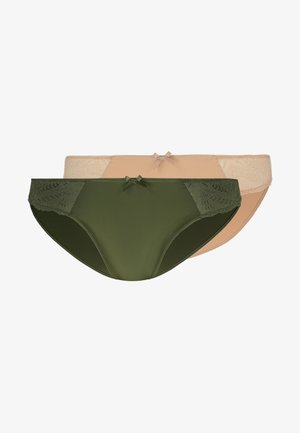 FAITH BRIEFS 2 PACK - Underbukse - green/beige