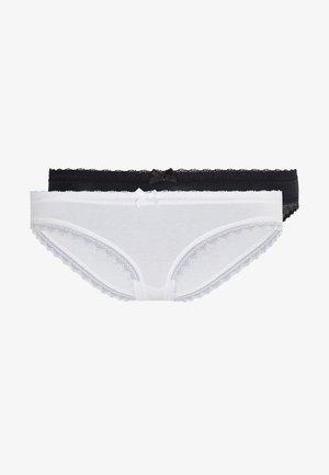 CHEEKY HIPSTER 2 PACK - Braguitas - black/white