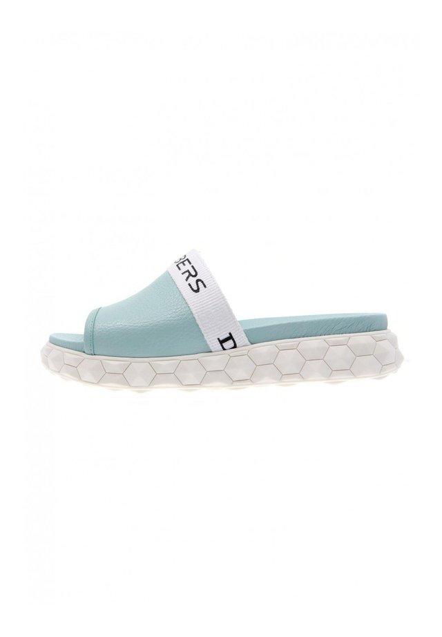 REALITY SANDALIAS MULES VERDE AGUA - Platform sandals - verde agua