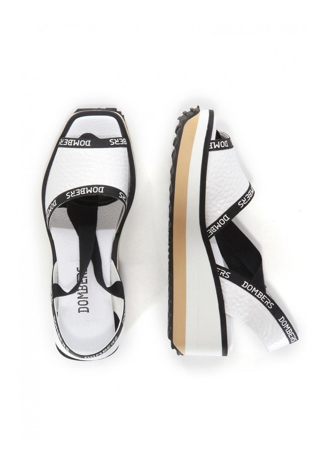 RUNWAY CINTA - Platform sandals - blanco