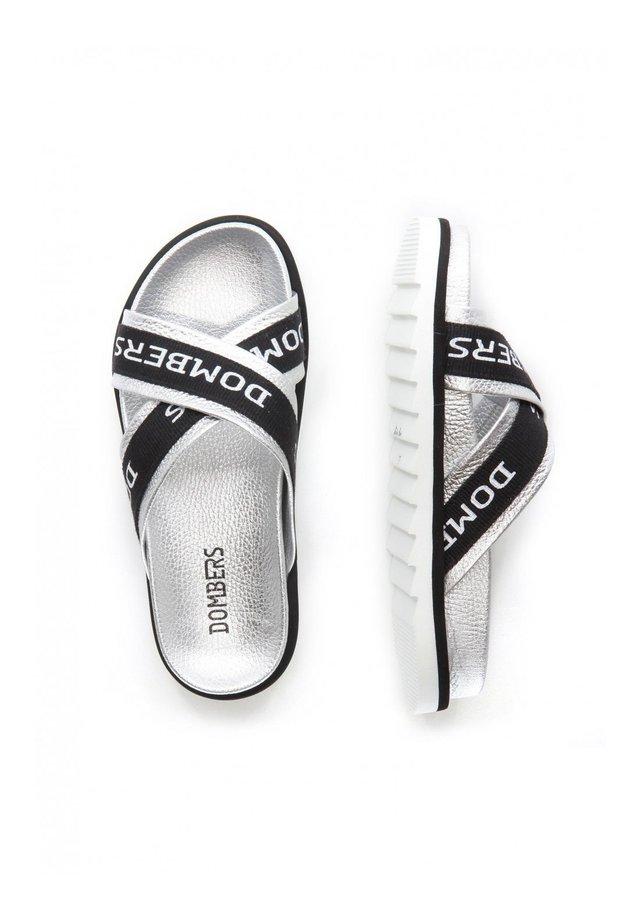 TOUCH - Platform sandals - plata