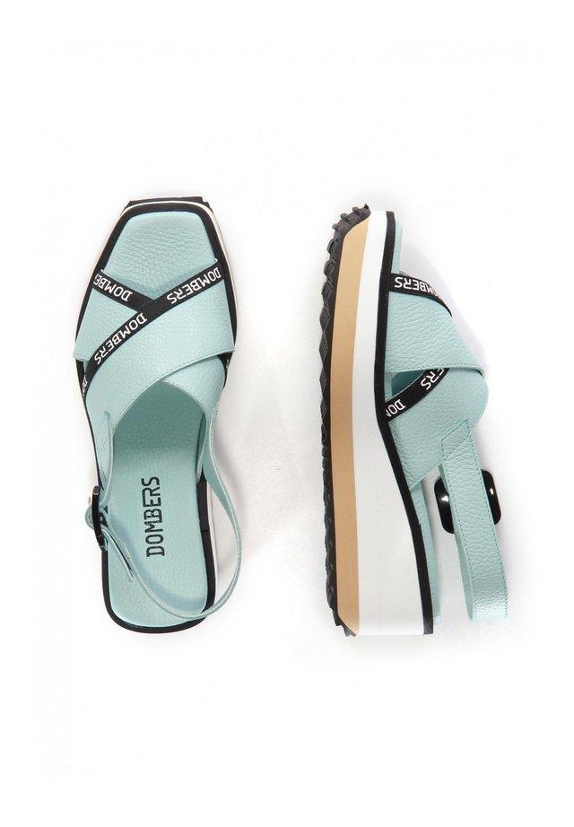 PEARL HEBILLA - Platform sandals - verde agua