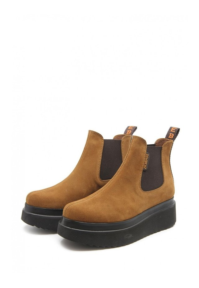 Wedge Ankle Boots - camel