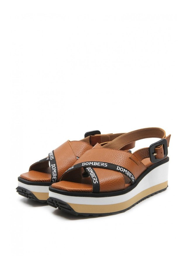 PEARL - Sandales compensées - marrón