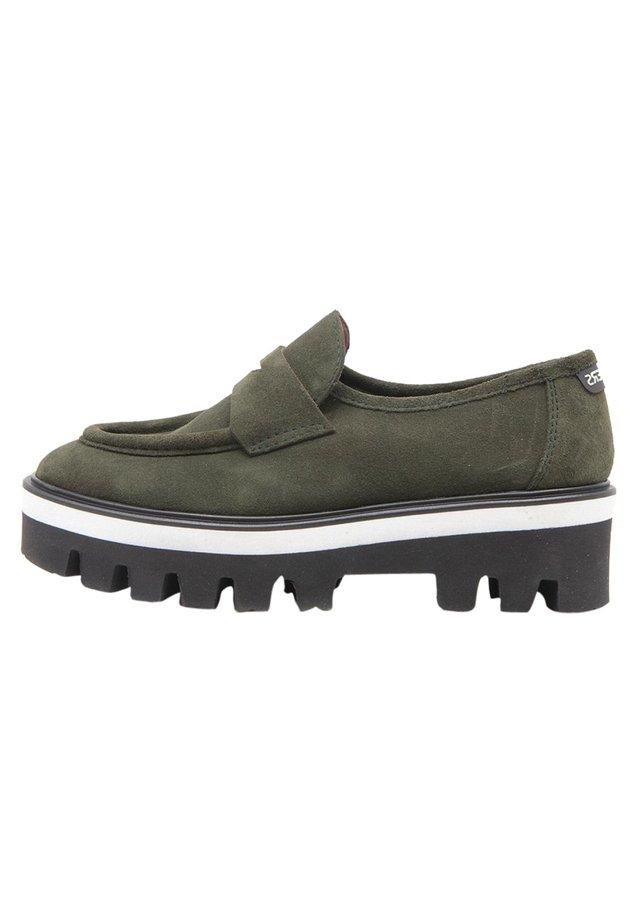 Slip-ons - verde oscuro