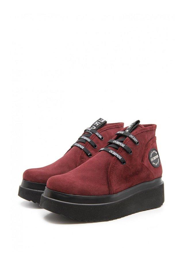 Platform ankle boots - burdeos
