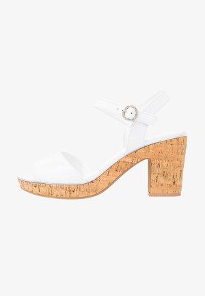 RHONDA WEDGE - High heeled sandals - white