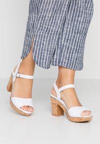 Dorothy Perkins - RHONDA WEDGE - High heeled sandals - white - 0