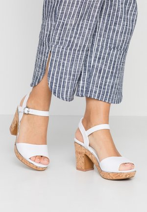 RHONDA WEDGE - High heeled sandals - white