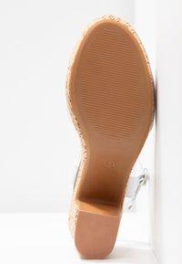 Dorothy Perkins - RHONDA WEDGE - High heeled sandals - white - 6