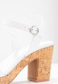 Dorothy Perkins - RHONDA WEDGE - High heeled sandals - white - 2