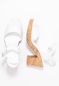 Dorothy Perkins - RHONDA WEDGE - High heeled sandals - white - 3