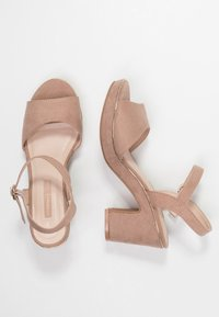 Dorothy Perkins - RHONDA WEDGE - High heeled sandals - nude - 3
