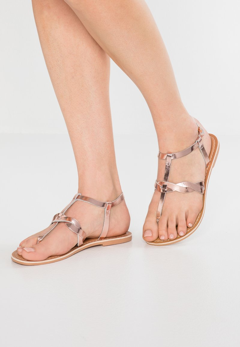 Dorothy Perkins - JESSIE TOE POST - T-bar sandals - metallic