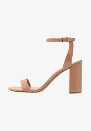 SHIMMER BLOCK - High heeled sandals - nude