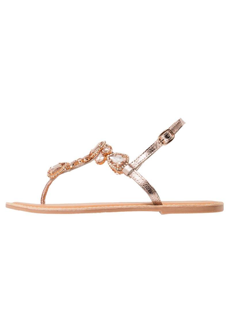 Dorothy Perkins - JEL TEARDROP TOE POST - T-bar sandals - rose gold