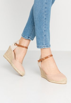 RAYA WEDGE - Platform sandals - nude