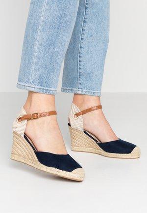RAYA WEDGE - Platform sandals - navy