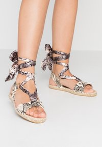 Dorothy Perkins - FRENCHIE ANKLE TIE - Sandals - nude - 0