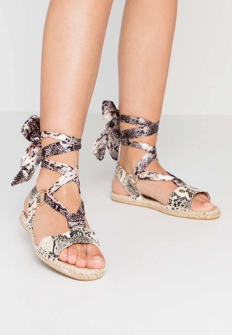 Dorothy Perkins - FRENCHIE ANKLE TIE - Sandals - nude