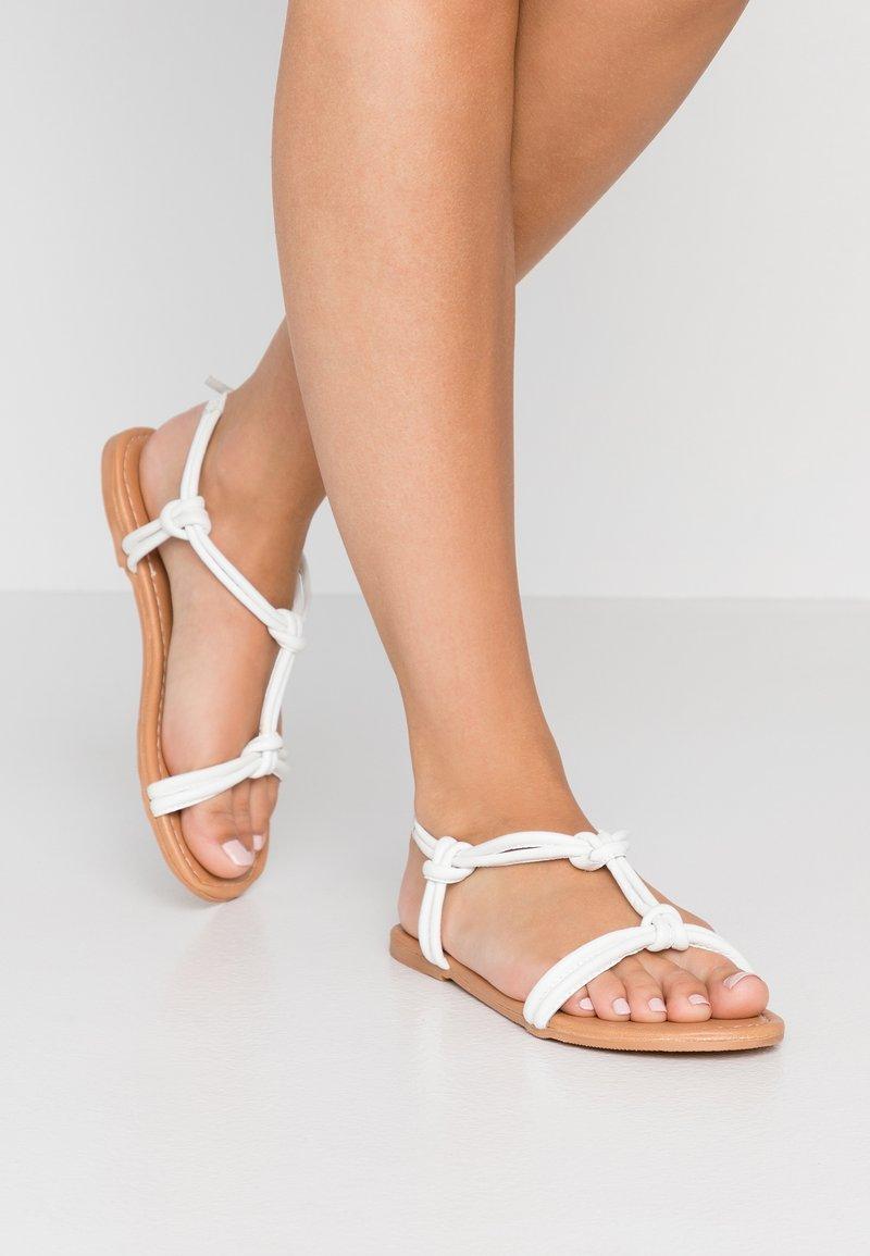 Dorothy Perkins - JOJO TUBULAR KNOTTED  - Sandals - white