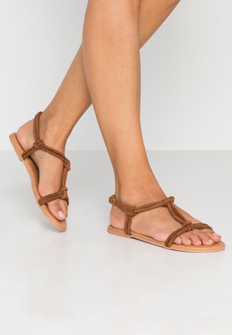 Dorothy Perkins - JOJO TUBULAR KNOTTED  - Sandals - tan