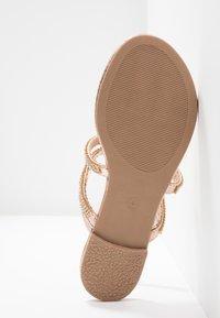 Dorothy Perkins - FARAWAY T-BAR TOEPOST - Sandály s odděleným palcem - rose-gold - 6